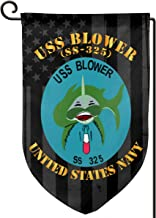 XIAYANGqi USS Blower SS 325 with American Flag Garden Flag Home Flag