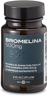 BIOS LINE Principium Bromelina 500 mg, Integratore alimentare con estratto d'ananas che favorisce il microcircolo, Integra...
