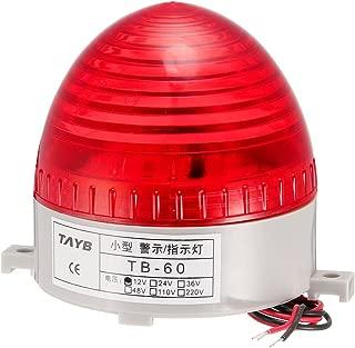 uxcell LED Warning Light Bulb Flashing Bright Industrial Signal Alarm Lamp DC12V Red TB-60