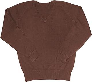 Jersey para niños con cuello en V y mezcla de algodón para escuela