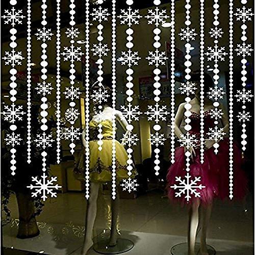 Bunter Weihnachtsschneeflocke-Wand-Aufkleber-hängender Ketten-Verkaufsmöbel-Glasfeiertags-Dekorations-Fenster-Aufkleber 105cm * 60cm B