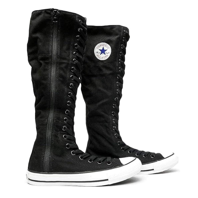 圧縮されたいっぱい処方[コンバース] スニーカー レディース オールスター XX-HI ハイカット ロング ブーツ 黒 ブラック カーキ ALL STAR XX-HI 5CL373 5CL374