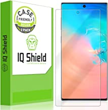 IQ Shield Screen Protector Compatible with Samsung Galaxy Note 10+ Plus (Note 10+ 5G, 6.8 inch Display)(2-Pack)(Case Friendly) Anti-Bubble Clear Film