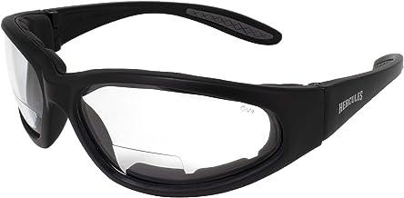 Global Vision Hercules Bifocal Anti-Fog Safety Glasses with EVA Foam, Clear Lens