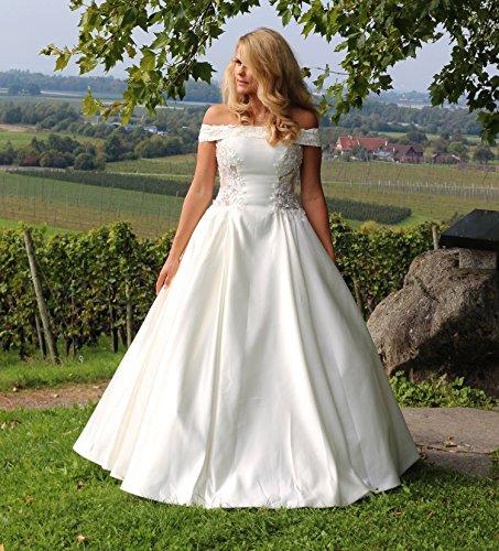 Luxus Brautkleid Hochzeitskleid Weiß nach Maß - 5