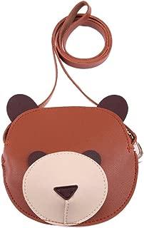 Everpert Cute Cartoon Bear Wallet Kids Storage Sling Pu Shoulder Mini Bags/Brown