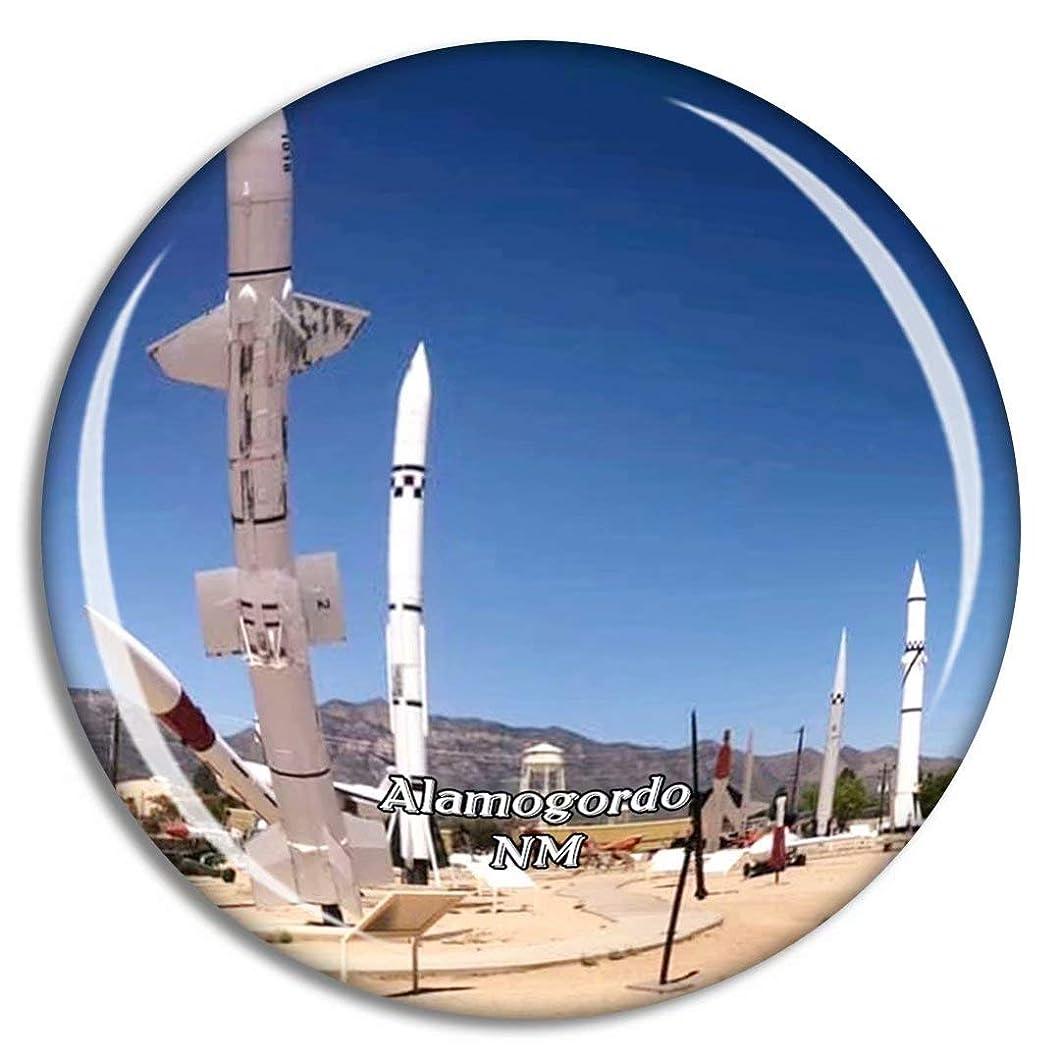 倫理と闘う大使アラモゴードホワイトサンズミサイルレンジ博物館ニューメキシコ米国冷蔵庫マグネット3Dクリスタルガラス観光都市旅行お土産コレクションギフト強い冷蔵庫ステッカー