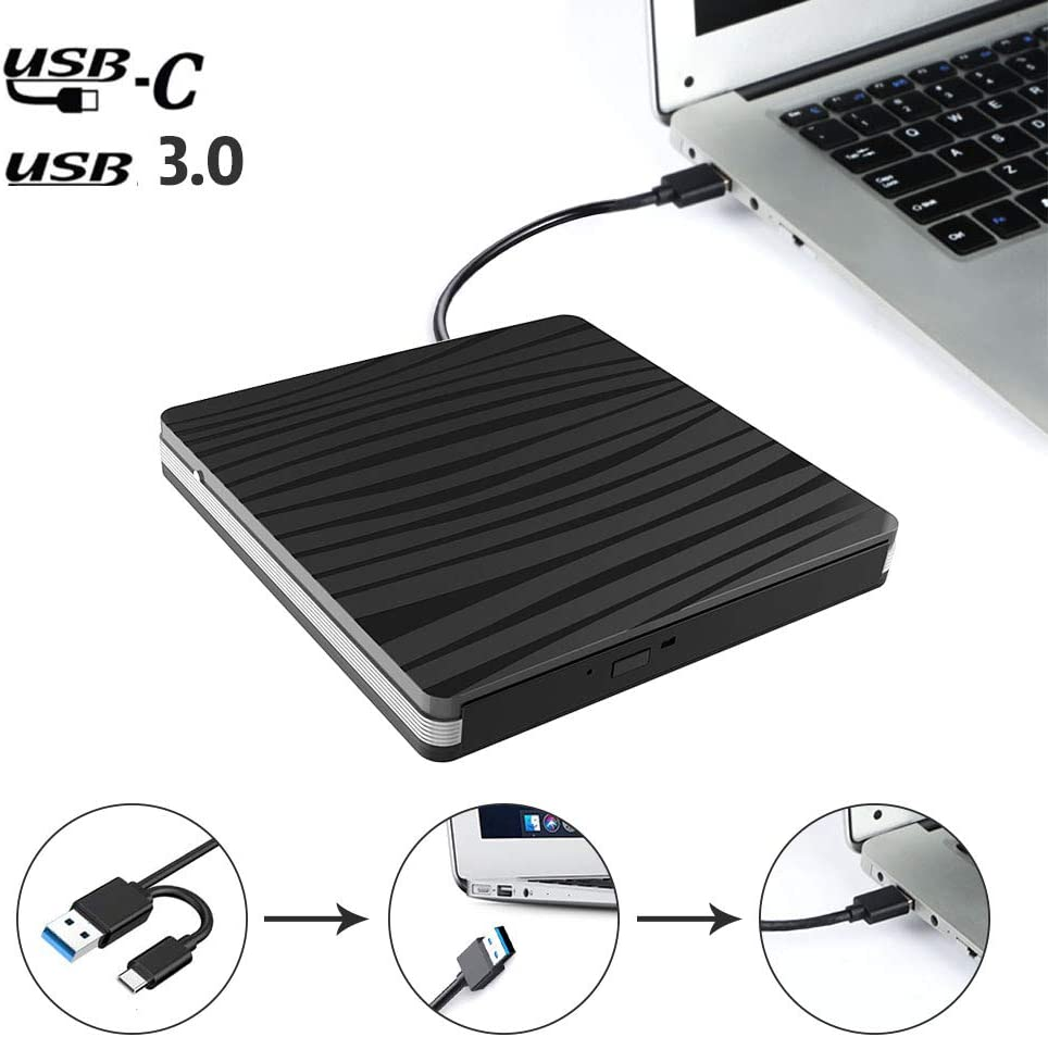 Xdtlty Weekly update Very popular USB C External CD DVD 3. to Type Drive Adapter