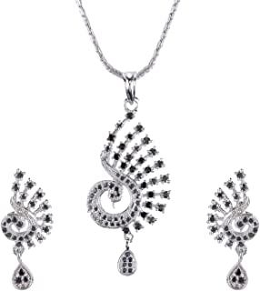 e651d88fa6 Swasti Jewels Gold Plated Pendant and Earrings Set for Women Available