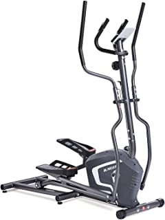 MaxKare Elliptical Machine Trainer Smooth Quiet Front Flywheel Driven 8-Level Magnetic Resistance with LCD Monitor and Pulse Rate Grip