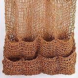 Aquagart Kokos Pflanztaschen Kokosmatte I Teich Ufermatte Böschungstasche I Böschungsmatte Teich Pflanzmatte 100x100 cm mit 8 Teichtaschen I 700g Naturfaser Kokosgewebe I Teichbepflanzung Zubehör (1)