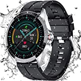 Smart Watch for Android Phones, Android Smart Watches for Men Women, Outdoor Sports Adult Smart Bracelet, Compatible with Android 5.0 and iOS 8.0 or Higher(Silver & Black)