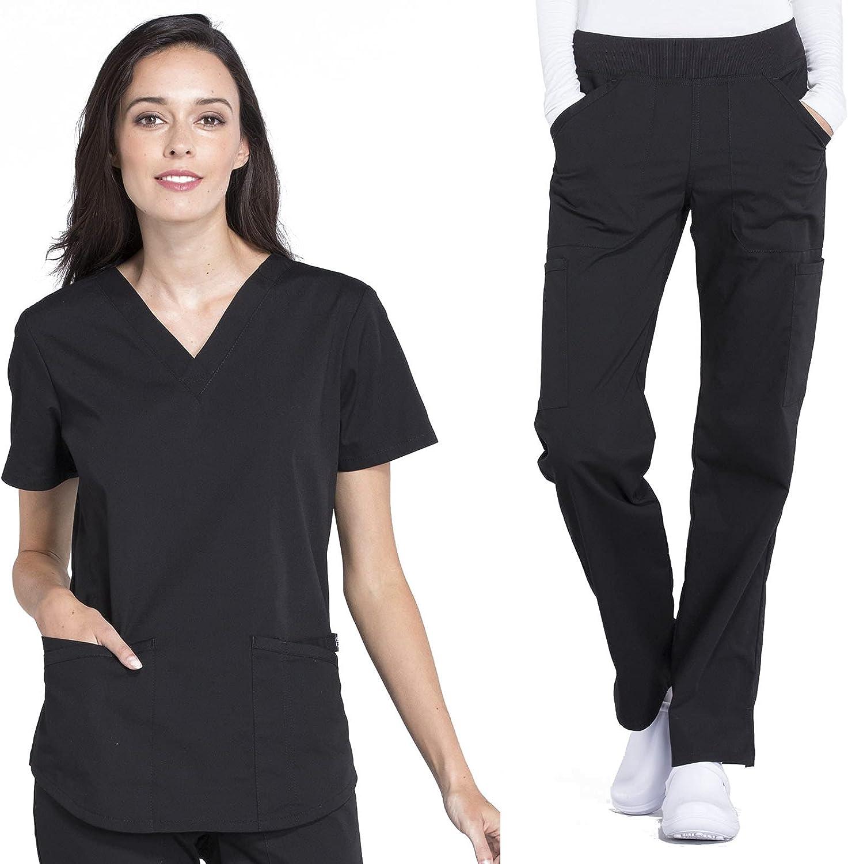 CHEROKEE Workwear Price reduction Professionals Women's V-Neck Women New York Mall Top WW665