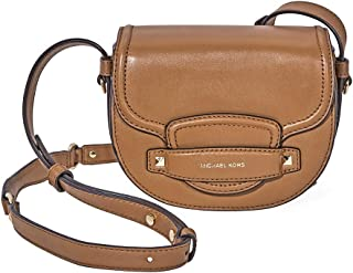 d86e62a600ff Michael Kors Genuine Leather Cary Saddle Bag Crossbody Purse
