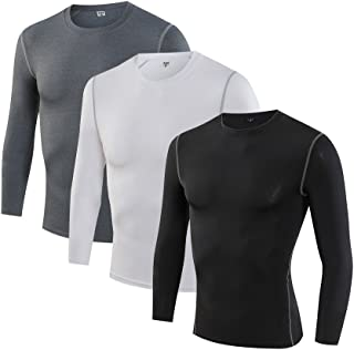 Kemrrey Men's Long Sleeve Cool Dry Breathable Base Layers Compression Shirt Tee