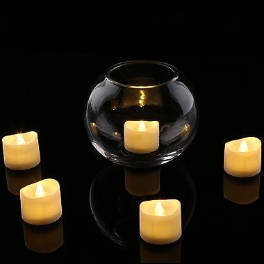 Homemory Realistic and Bright Flickering Bulb Battery Operated Flameless LED Tea Light for Seasonal & Festival Celebratio