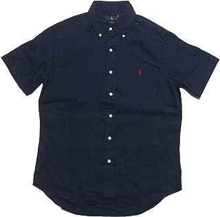 (ポロ ラルフローレン) 半袖 ボタンダウンシャツ リネン ネイビー Polo Ralph Lauren 1213[並行輸入品]