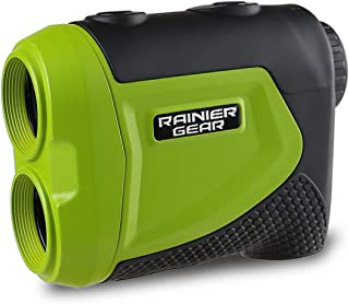 Rainier Gear Sport & Hunting 1050 Yards Laser Rangefinder, Linear, Slope and Scan Modes, Compact Waterproof and Accurate (Neon Green)