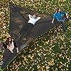 RDJSHOP 巨大空中キャンプハンモックポータブル多人称ハンモック3ポイント屋外の三角形ハンモック旅行、ビーチ、裏庭、パティオ、庭(サイズ:280 cm)(サイズ:400cm) (サイズ : 280 cm)