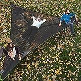 RDJSHOP Hamaca de Camping Aérea Gigante Hamaca Multi Multi Hammock 3 Point Triángulo Al Aire Libre Hamaca para Niños Árbol Casa Aire Sky Tienda para Viajar, Playa, Patio Baldo, Patio, Jardín (Tamaño: