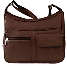 Silver Fever® Medium Handbag - Soft Genuine Leather - Ladies Shoulder Daily Organizer