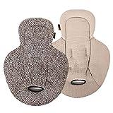 Ukje - Inserto reversible para bebés, hamaca reductora compatible con Mamaroo y Rockaroo, algodón orgánico, leopardo beige