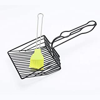 WEATLY Conveniente Metal Cat Litter Shovel Set Filtro rápido Pet Pala Pala Pick Up Kitty Litter Scoop (Color : Silver)