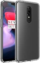 Olixar for OnePlus 6 Bumper Case - Hard Tough Cover - Crystal Clear Back - Wireless Charging Compatible - ExoShield - Shock Protection - Clear