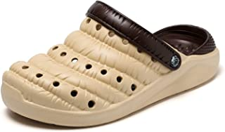 Xujw-shoes, for Men Outdoor Clogs Sandals Slippers Beach Shoes Anti Slip EVA Fashion Breathable Leather Round Flat Heel Wear Resistant Dual-Purpose Outdoor TPU Upper