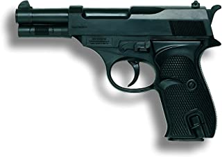 Edison 8026005 - Pistola policial de juguete automática con capacidad de 13 balas color negro