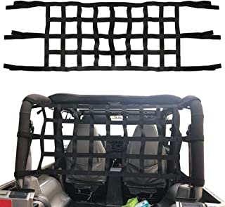 BORDAN Mesh Cargo Net Fits Jeep Wrangler Cargo Net for JK TJ 1997 to 2018 UTVs