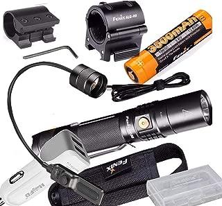 Fenix UC35 V2.0 2018 Upgrade 1000 Lumen Rechargeable Tactical Flashlight with 3500mAh Battery,Holster, Lanyard, USB Charging Cable,Fenix AER-02 V2.0, ALG-00, FENIX ALG-01,car charger,battery case