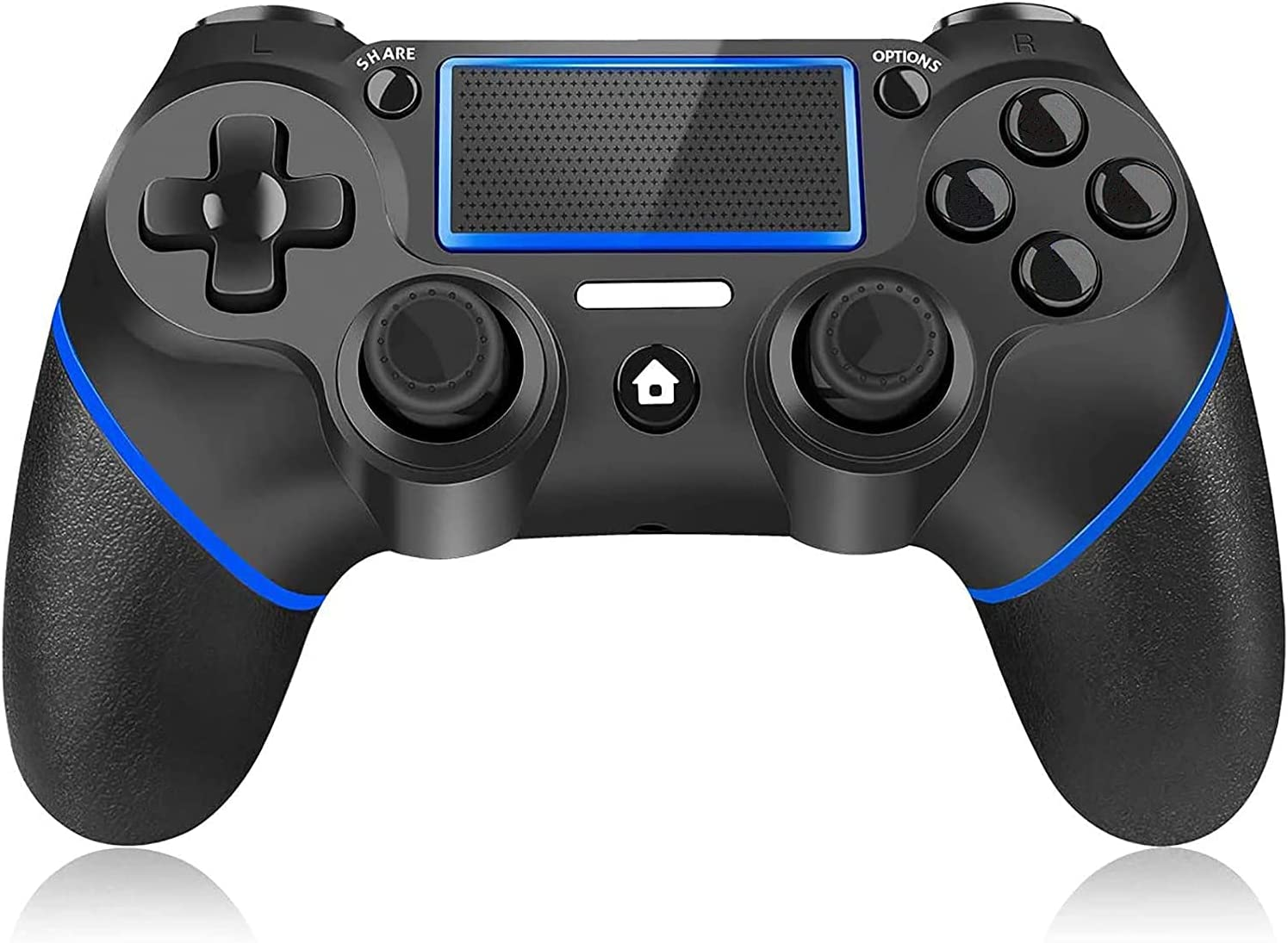 Controller for PStation 4,Y Team Wireless PS-4 Controller for PS-4,Gamepad Joystick Remote Controller Compatible with PStation 4/Pro/Slim/PC,Dual Vibration/Audio Function/Charging Cable(Blue)