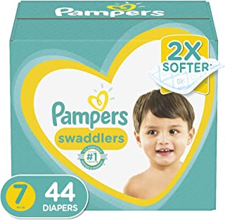 Diapers Size 7, 44 Count - Pampers Swaddlers Disposable Baby Diapers, Super Pack