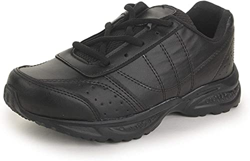 Touchwood Topper Black School Shoes for Boys