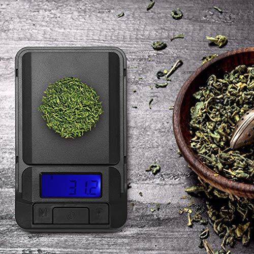 Taidda- de Fin d'année Balance de Cuisine électronique, Balance de thé Durable, 10 x 6 cm Portable pour Restaurant à Domicile