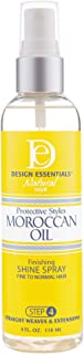 Design Essentials Protective Styles Moroccan Oil Finishing Shine Spray - Fine To Normal Hairs - 4 Oz