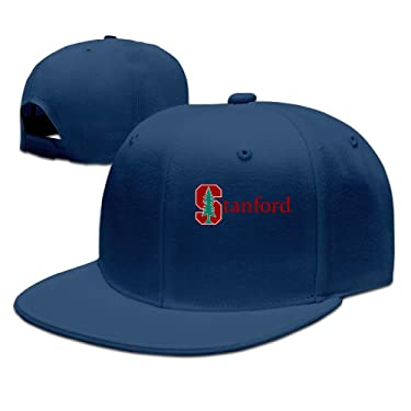 ZOENA Stanford University S Logo Cotton Hats Golfer Sanpback Cap Hat For Outdoor Sports Navy