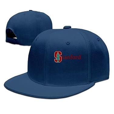ZOENA Stanford University S Logo Cotton Hats Golfer Sanpback Cap Hat For Outdoor Sports Navy