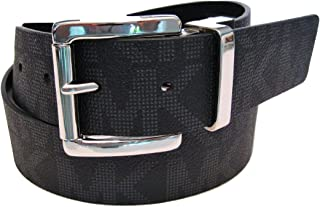 Michael Kors Reversible Belt MK Logo Black/Black Silver Buckle Size Medium