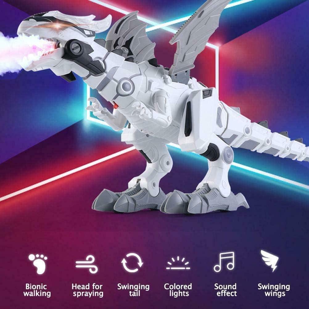 Akemaio Niebla de pulverizaci/ón Robot de Juguete drag/ón Dinosaurio ni/ños Caminando de respiraci/ón del Fuego del Aerosol de Agua con Luces y Sonidos