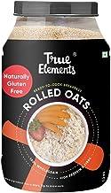 True Elements Rolled Oats 1.2 kg - Gluten Free Oats, Protein Rich Whole grain Oats, Healthy Breakfast, Super Saver Pack