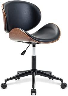 Belleze Mid-Century Swivel Office Computer Task Executive Desk Chair w/Adjustable Height, Black