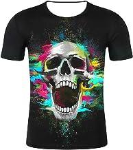 Blwz heren t-shirt, 3D-mouwen, bedrukt met doodsho...