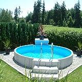 Poolzon Rundpool Fun-Zon 5,00 x 1,20m, Stahlwandpool 500x120 cm Schwimmbecken, Stahlwandbecken, Aufstellbecken mit 0,6mm Stahlwand und 0,6mm Einhängfolie