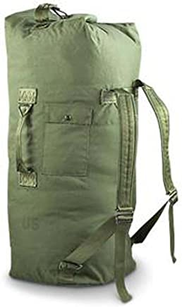 Military Outdoor Clothing Previously Issued Government Olive Drab Cordura 2  Strap Duffle Bag a147fa7574352