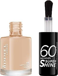 Rimmel London, 60 Seconds Super Shine Nail Polish 513 Let's Get Nude, 8 ml - 0.25 fl oz