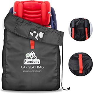 Car Seat Travel Bag, Gate Check Travel Bag with Backpack Shoulder Straps, Cover Protect Stroller, Carseat, Pushchair, Booster, Infant Carrier and Wheelchair for Airplane Airport Gate Check