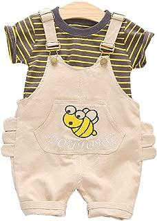 ARAUS Ropa Ni/ños Camisa de Cuadros Vaquero Conjuntos Beb/é 2 Piezas Pantalones de Petos Primavera Oto/ño