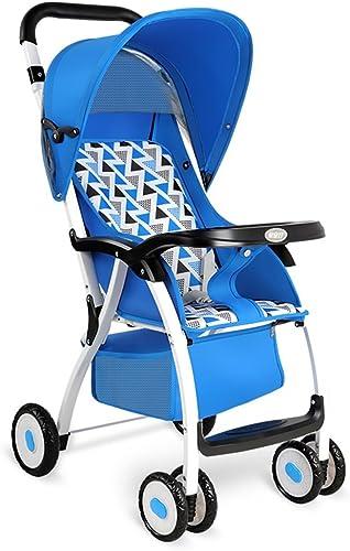 sin mínimo XUERUI Sillita de bebé Carrito Plegable Cómoda Comodidad Hermosa Hermosa Hermosa Seguridad 3 Colors (Color   azul)  las mejores marcas venden barato